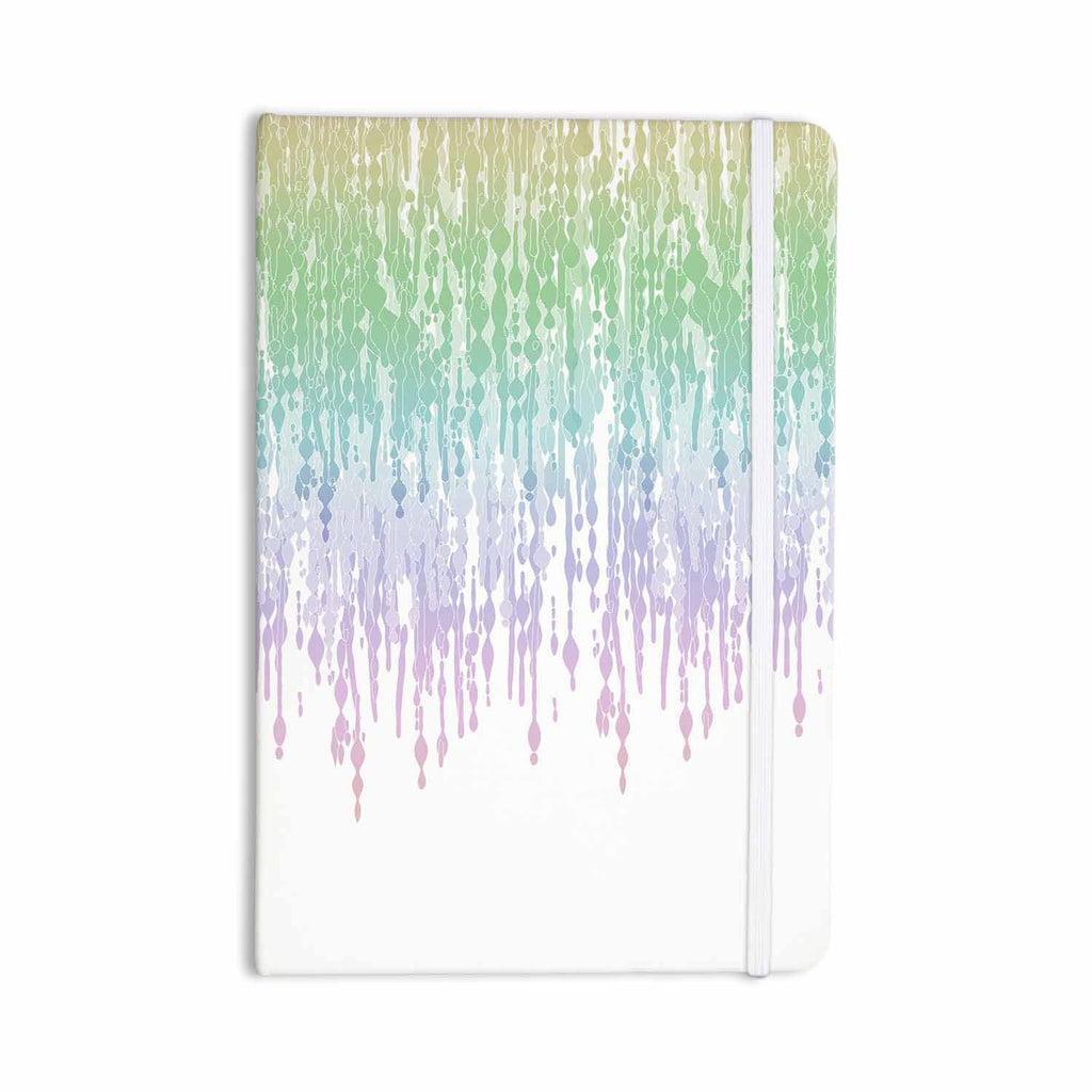 "Frederic Levy-Hadida ""Rainbow Drops"" Pastel Blue Digital Everything Notebook - KESS InHouse  - 1"