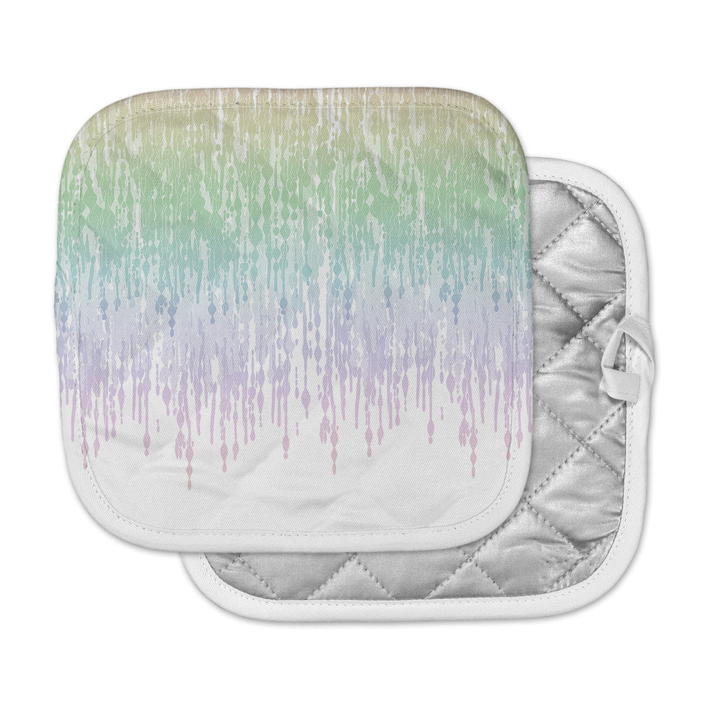 "Frederic Levy-Hadida ""Rainbow Drops"" Pastel Blue Digital Pot Holder"