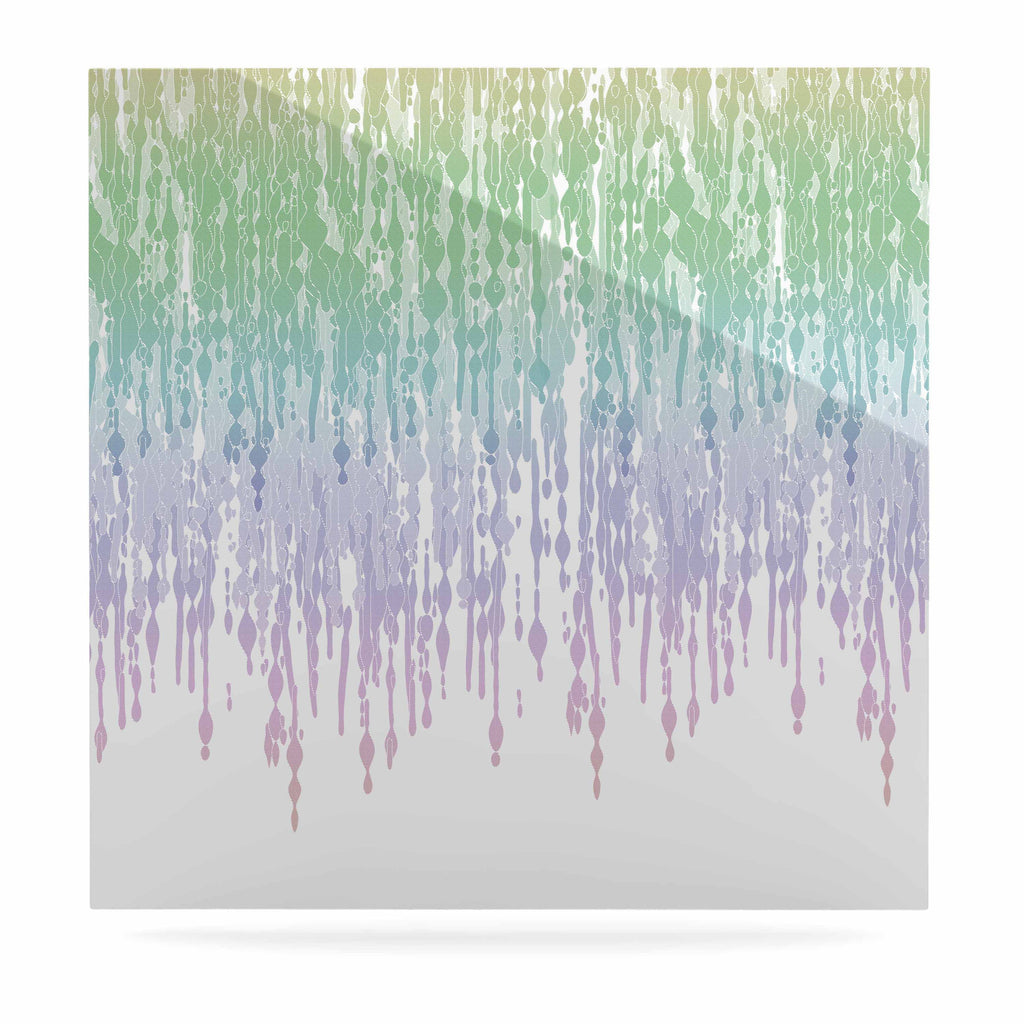 "Frederic Levy-Hadida ""Rainbow Drops"" Pastel Blue Digital Luxe Square Panel - KESS InHouse  - 1"