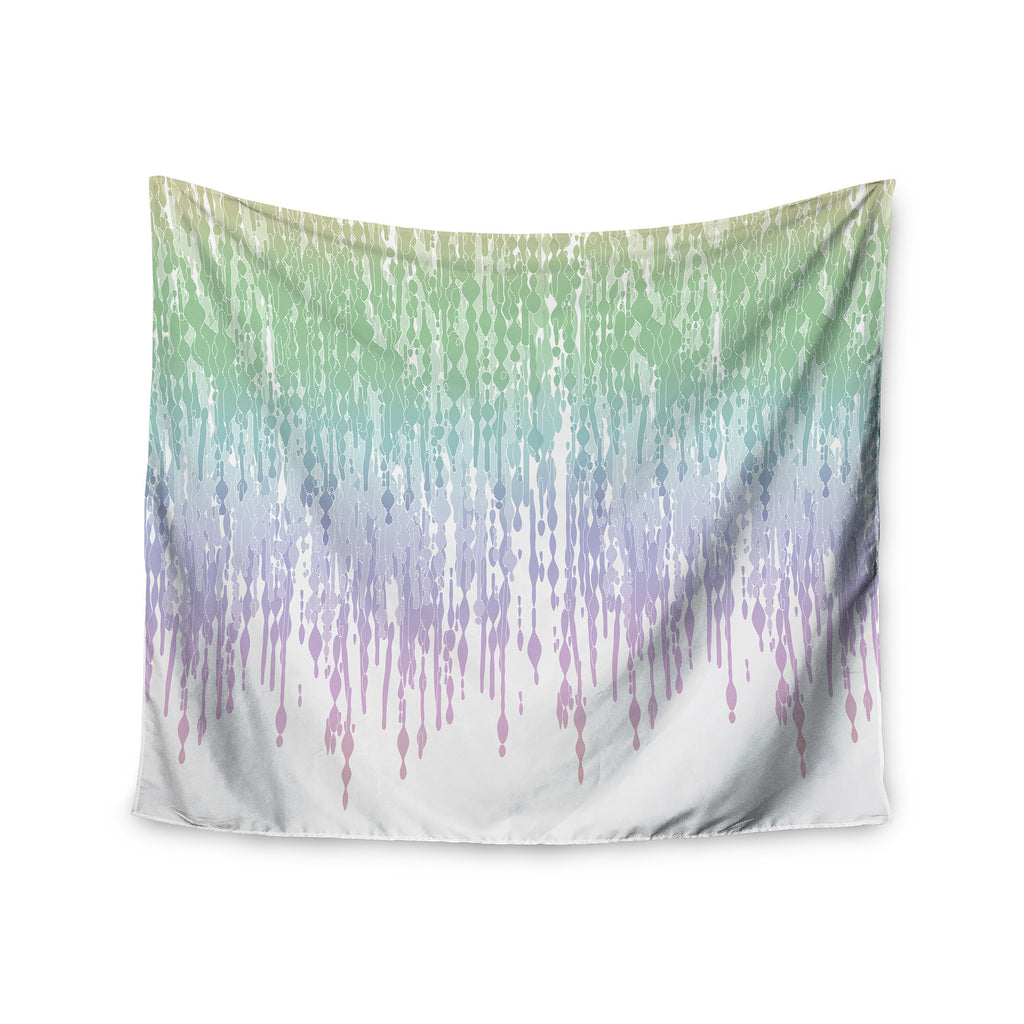 "Frederic Levy-Hadida ""Rainbow Drops"" Pastel Blue Digital Wall Tapestry - KESS InHouse  - 1"