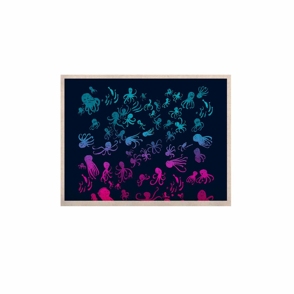 "Frederic Levy-Hadida ""Octocrowdy"" Blue Pink Digital KESS Naturals Canvas (Frame not Included) - KESS InHouse  - 1"