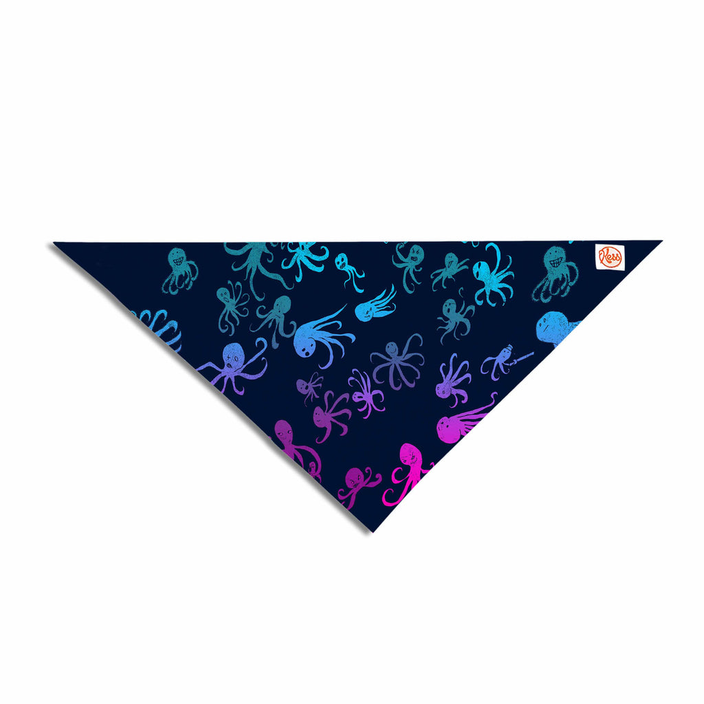 "Frederic Levy-Hadida ""Octocrowdy"" Blue Pink Digital Pet Bandana - KESS InHouse  - 1"