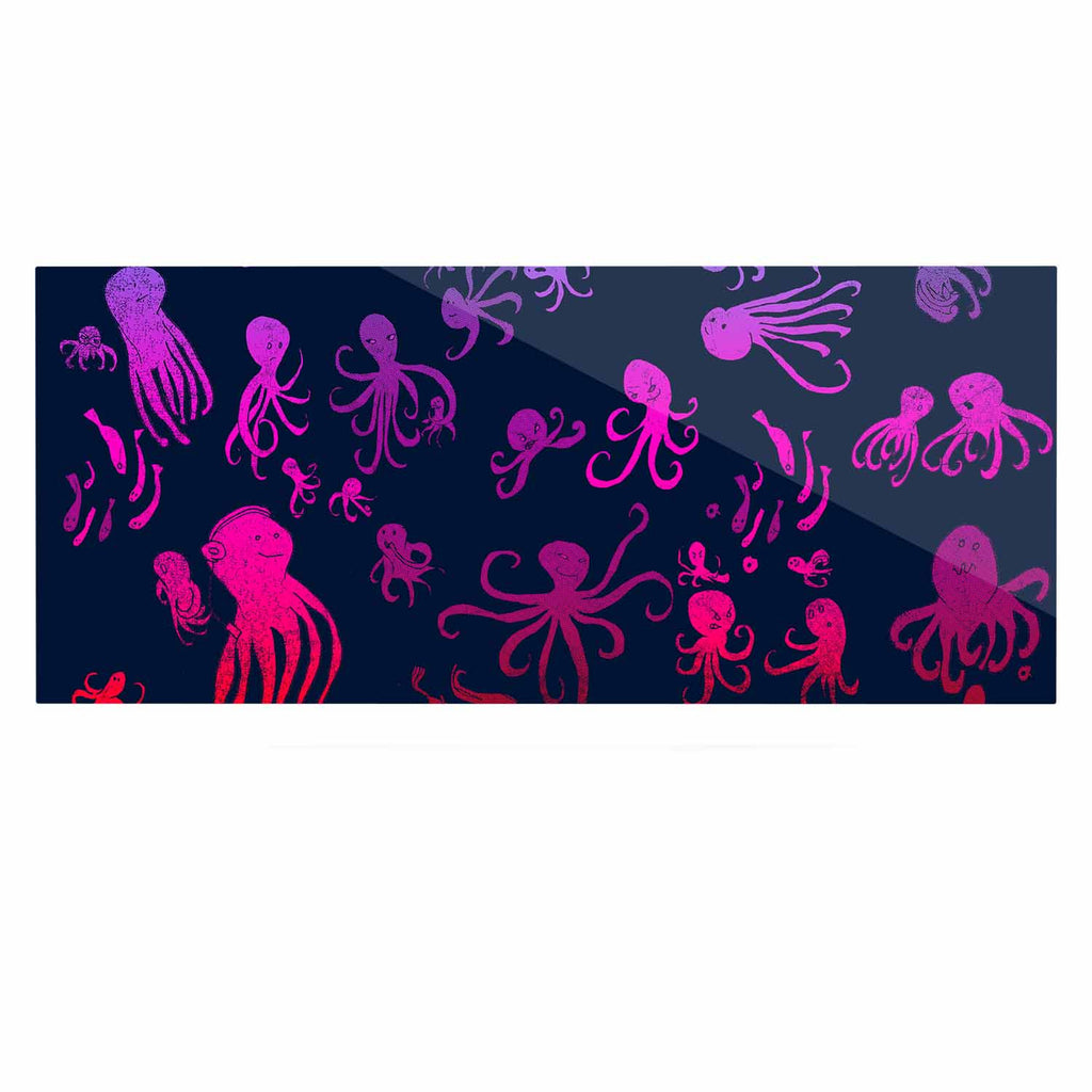 "Frederic Levy-Hadida ""Octocrowdy"" Blue Pink Digital Luxe Rectangle Panel - KESS InHouse  - 1"
