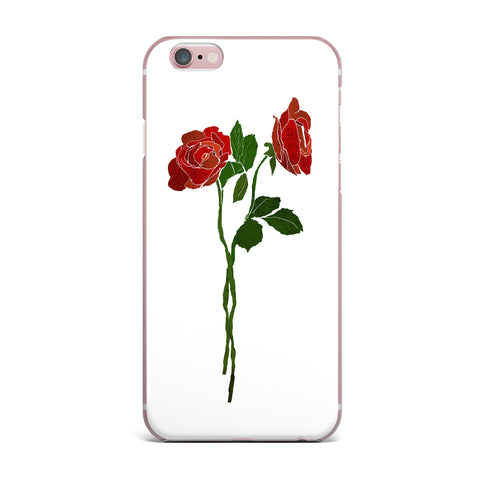 "Frederic Levy-Hadida ""2 Roses"" Green Red Digital iPhone Case"