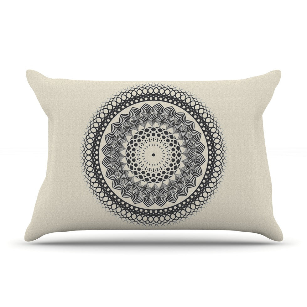 "Famenxt ""Black & White Boho Mandala"" Geometric Pillow Sham - KESS InHouse"