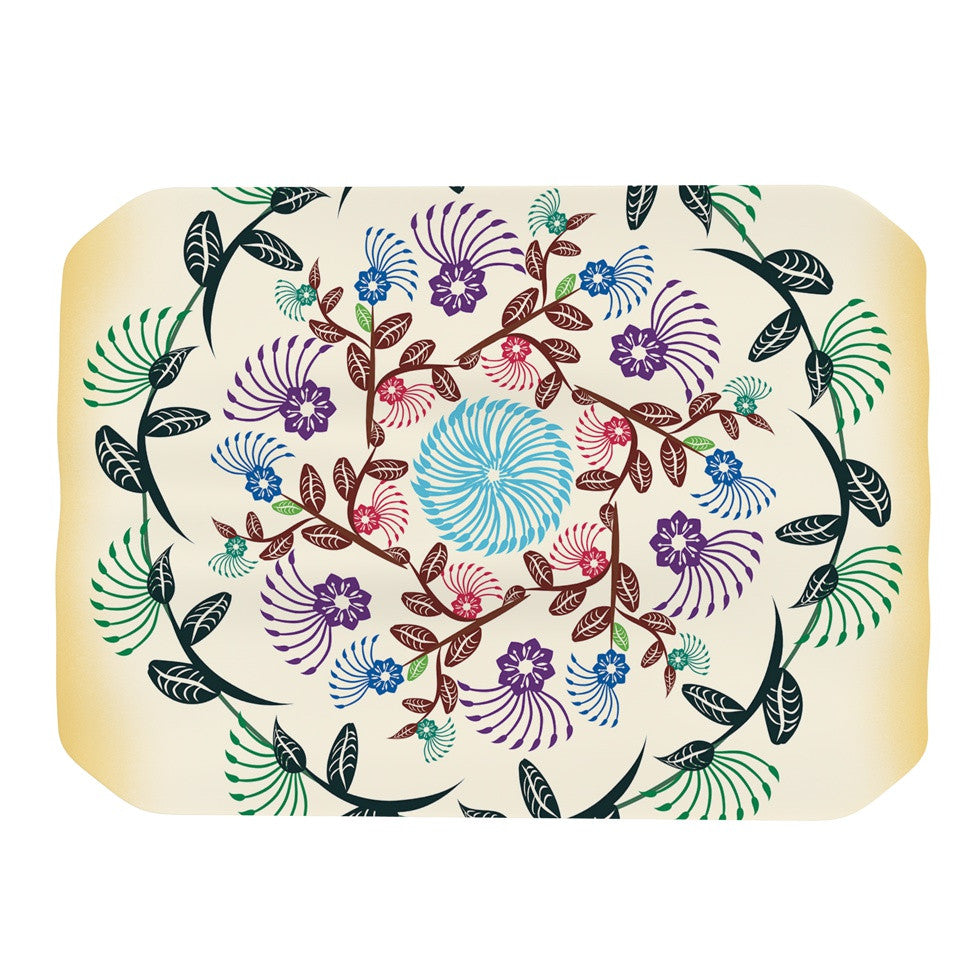 "Famenxt ""Nature Mandala"" Yellow Multicolor Place Mat - KESS InHouse"