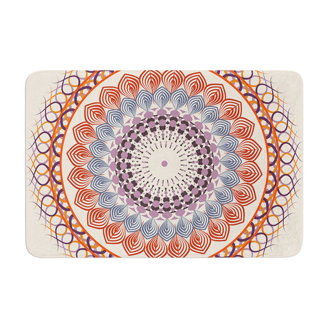 "Famenxt ""Vintage Mandala"" Yellow Multicolor Memory Foam Bath Mat - Outlet Item"