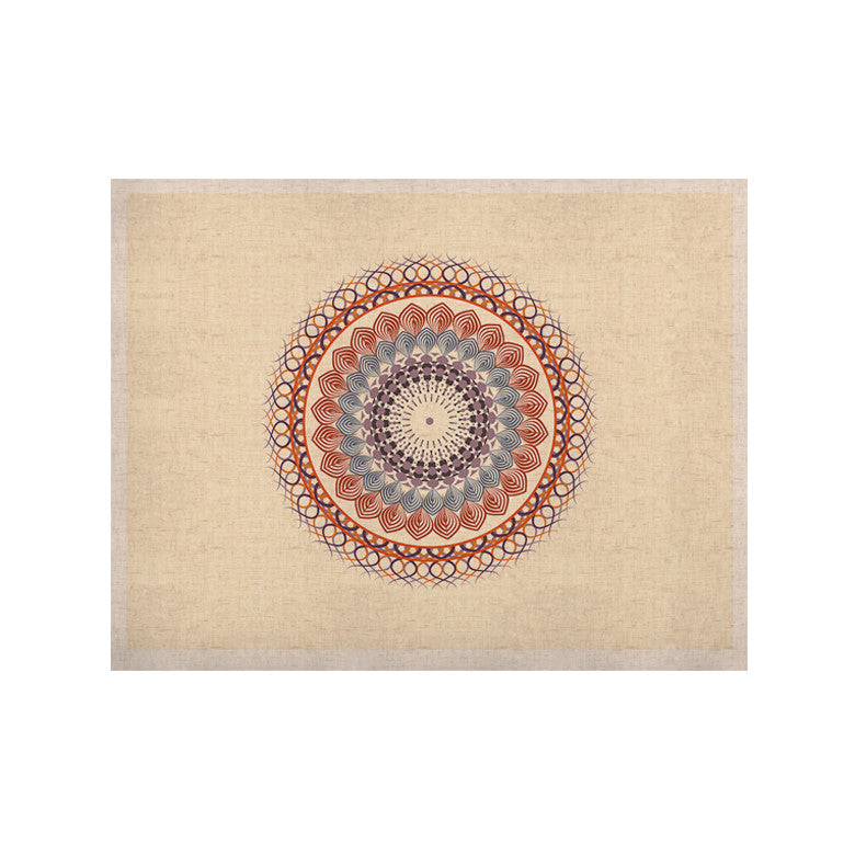 "Famenxt ""Vintage Mandala"" Yellow Multicolor KESS Naturals Canvas (Frame not Included) - KESS InHouse  - 1"