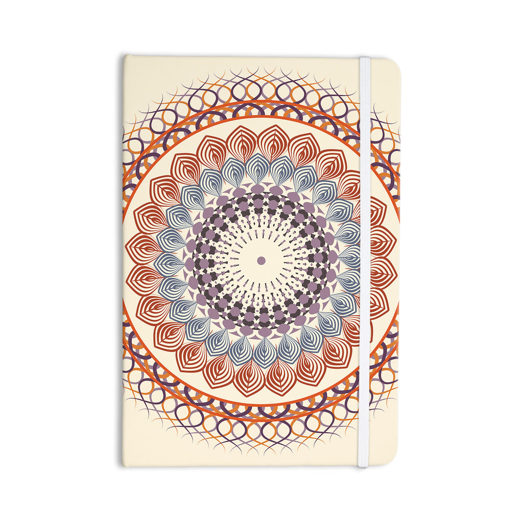 "Famenxt ""Vintage Mandala"" Yellow Multicolor Everything Notebook - KESS InHouse  - 1"