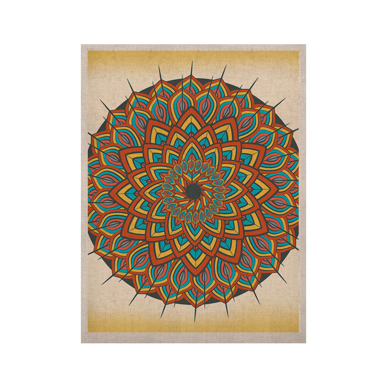 "Famenxt ""Floral Mandala"" Multicolor Geometric KESS Naturals Canvas (Frame not Included) - KESS InHouse  - 1"