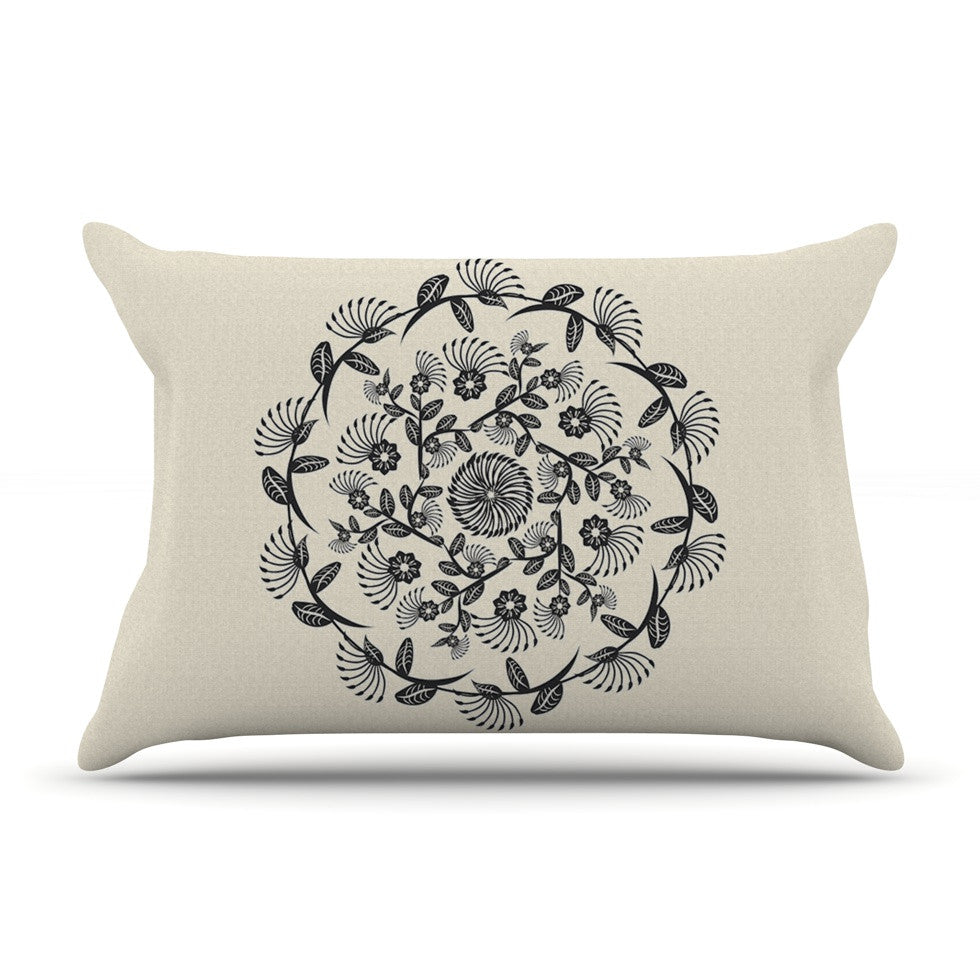"Famenxt ""Black & White Decorative Mandala"" Geometric Pillow Sham - KESS InHouse"