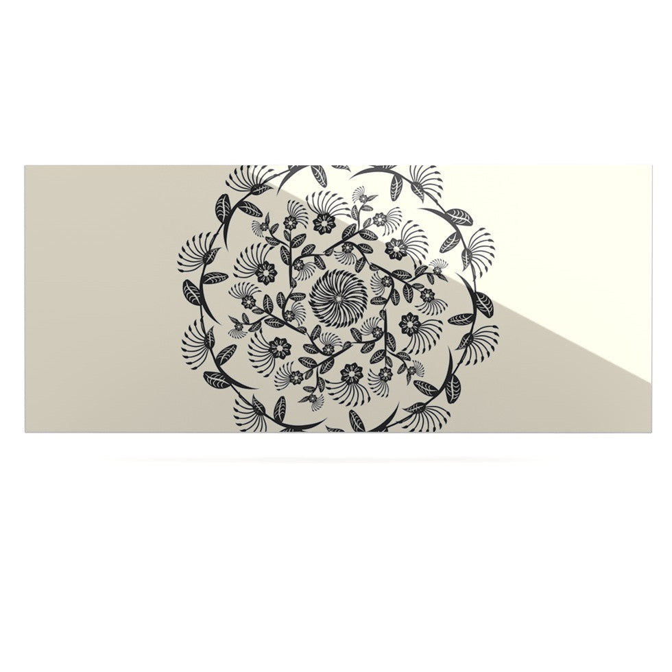 "Famenxt ""Black & White Decorative Mandala"" Geometric Luxe Rectangle Panel - KESS InHouse  - 1"