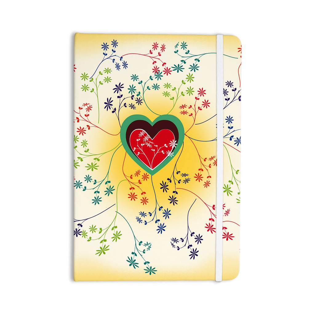 "Famenxt ""Romantic"" Yellow Heart Everything Notebook - KESS InHouse  - 1"
