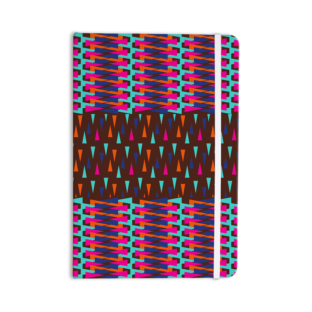 "Famenxt ""Abstract Triangle Pattern"" Pink Aqua Everything Notebook - KESS InHouse  - 1"