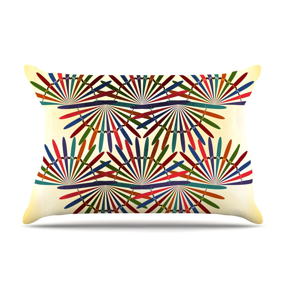 "Famenxt ""Colorful Abstract Pattern"" Yellow Multicolor Pillow Sham - KESS InHouse"