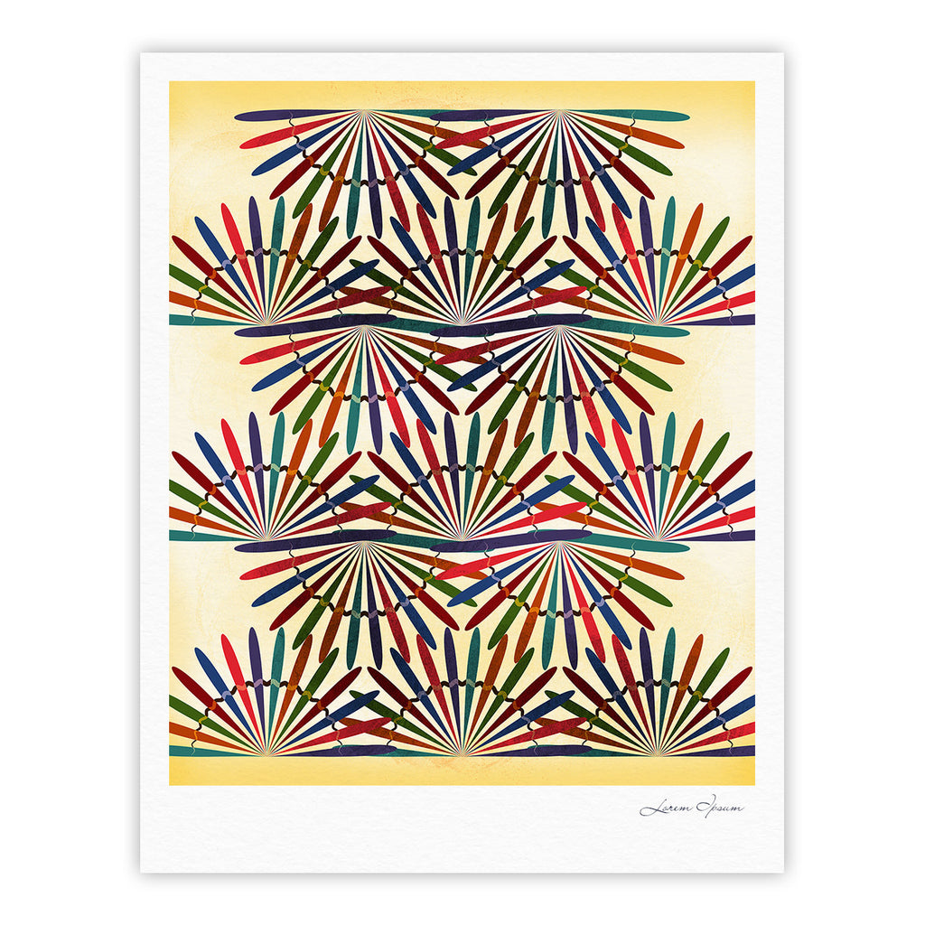 "Famenxt ""Colorful Abstract Pattern"" Yellow Multicolor Fine Art Gallery Print - KESS InHouse"
