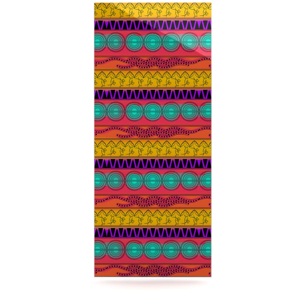 "Famenxt ""Pattern Watercolor Colorful"" Multicolor Pattern Luxe Rectangle Panel - KESS InHouse  - 1"