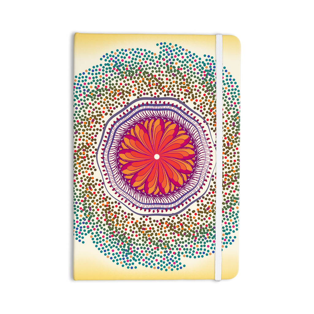 "Famenxt ""Confetti Dots Mandala"" Multicolor Abstract Everything Notebook - KESS InHouse  - 1"