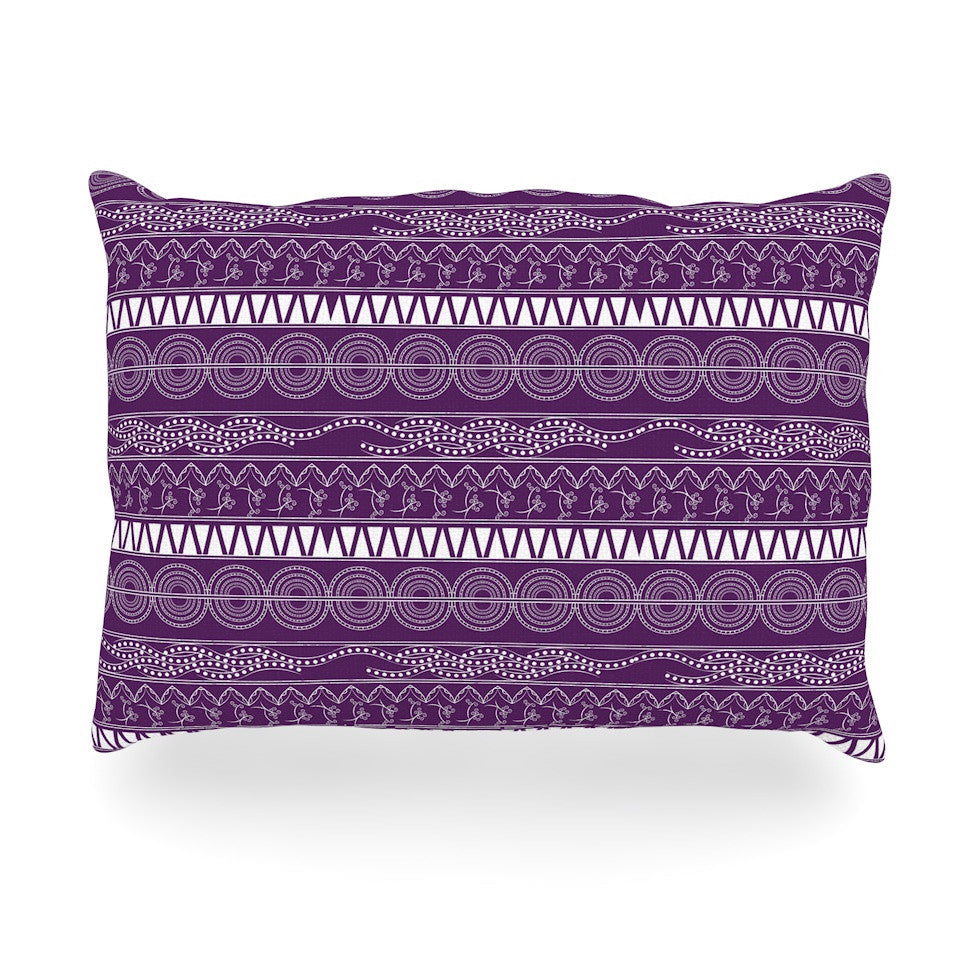 "Famenxt ""Pattern Purple"" Lavender Abstract Oblong Pillow - KESS InHouse"