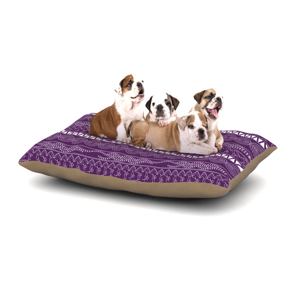 "Famenxt ""Pattern Purple"" Lavender Abstract Dog Bed - KESS InHouse  - 1"