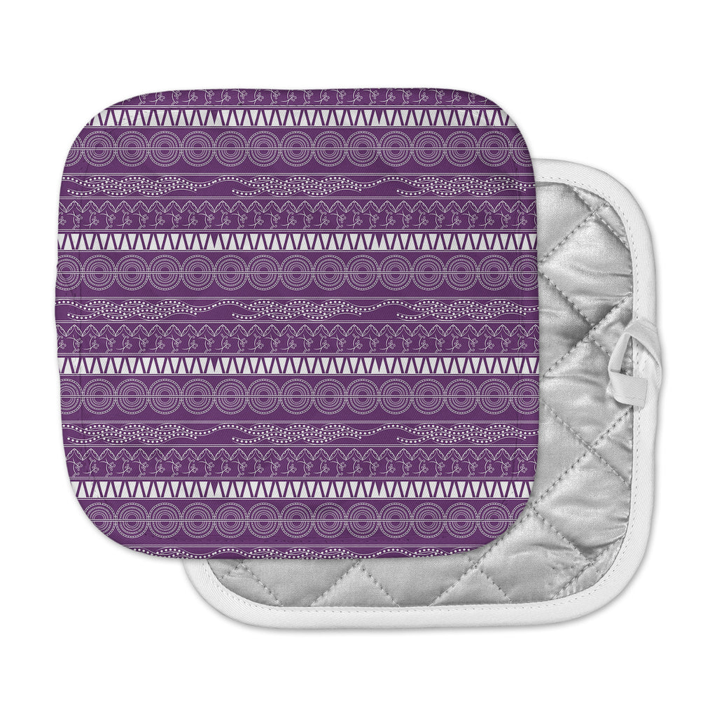 "Famenxt ""Pattern Purple"" Lavender Abstract Pot Holder"
