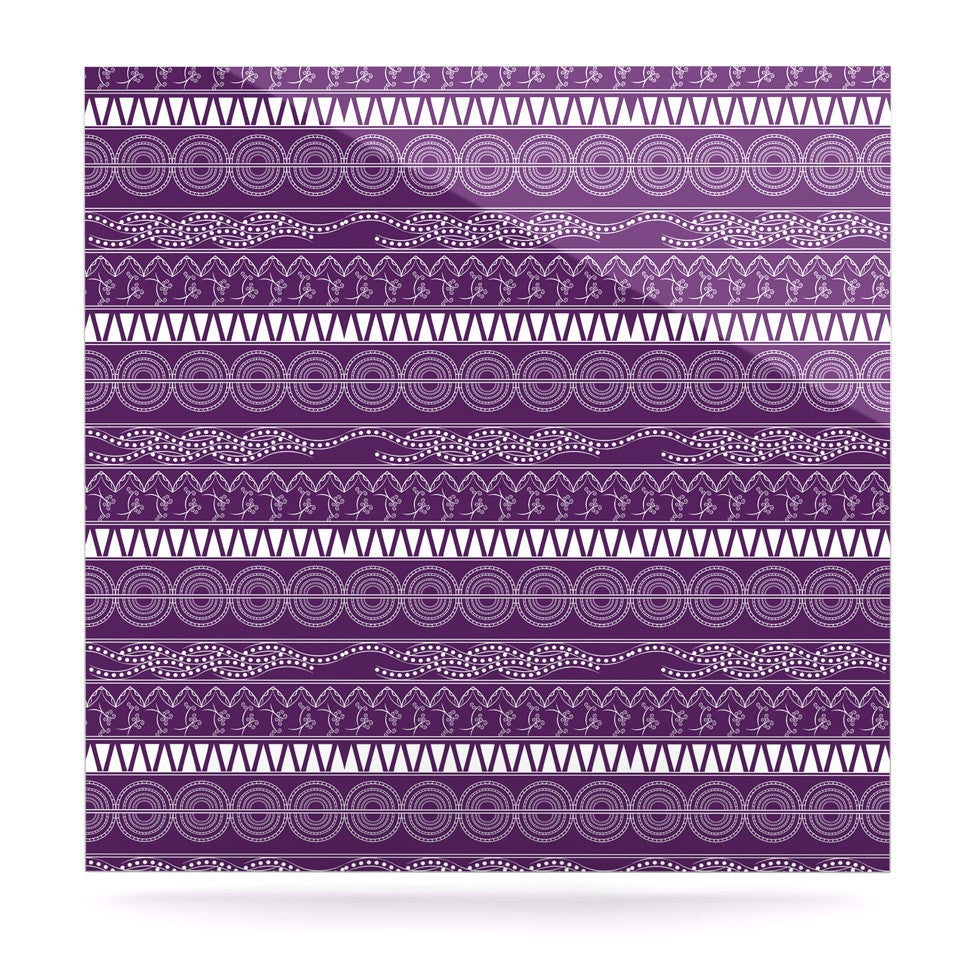 "Famenxt ""Pattern Purple"" Lavender Abstract Luxe Square Panel - KESS InHouse  - 1"