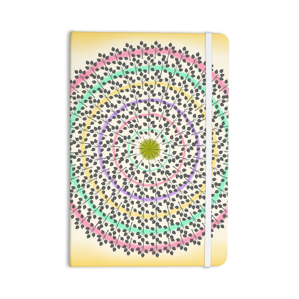 "Famenxt ""Leafy Watercolor Mandala"" Pastels Abstract Everything Notebook - KESS InHouse  - 1"