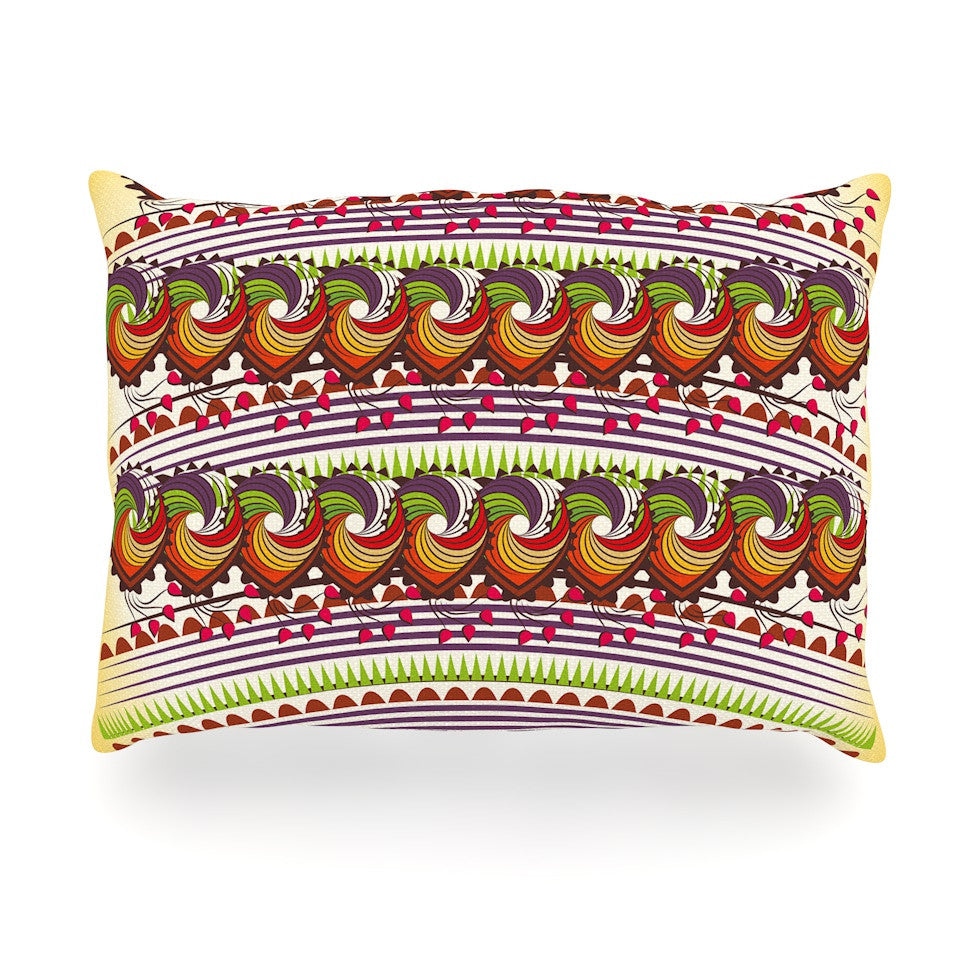 "Famenxt ""Colorful Traditional Pattern"" Multicolor Digital Oblong Pillow - KESS InHouse"