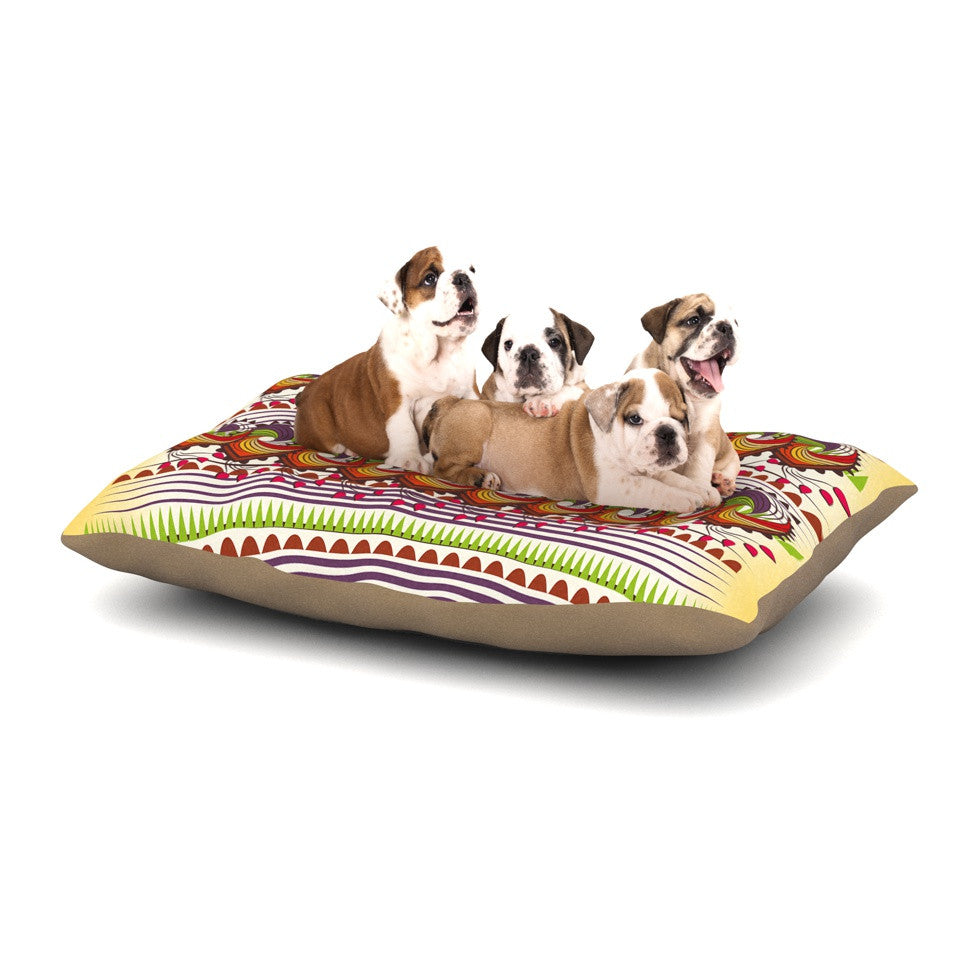 "Famenxt ""Colorful Traditional Pattern"" Multicolor Digital Dog Bed - KESS InHouse  - 1"