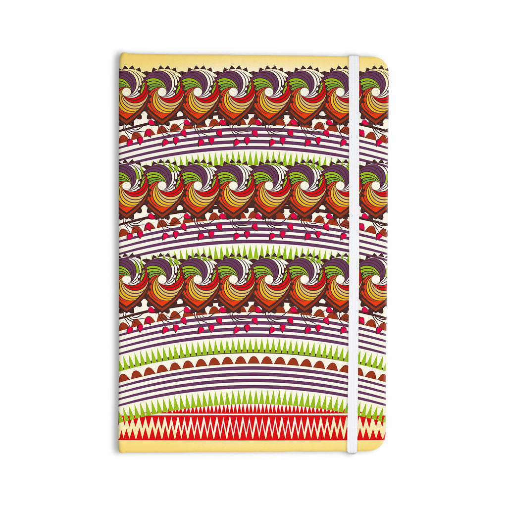 "Famenxt ""Colorful Traditional Pattern"" Multicolor Digital Everything Notebook - KESS InHouse  - 1"