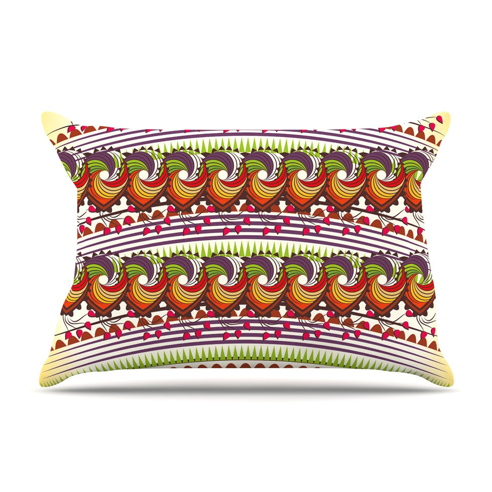 "Famenxt ""Colorful Traditional Pattern"" Multicolor Digital Pillow Sham - KESS InHouse"