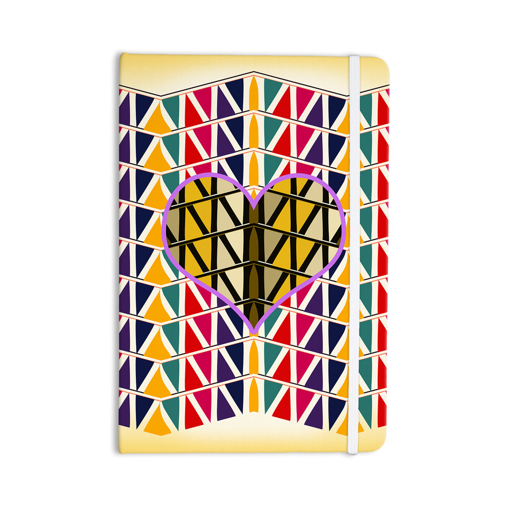 "Famenxt ""Heart in Abstract Pattern"" Geometric Abstract Everything Notebook - KESS InHouse  - 1"