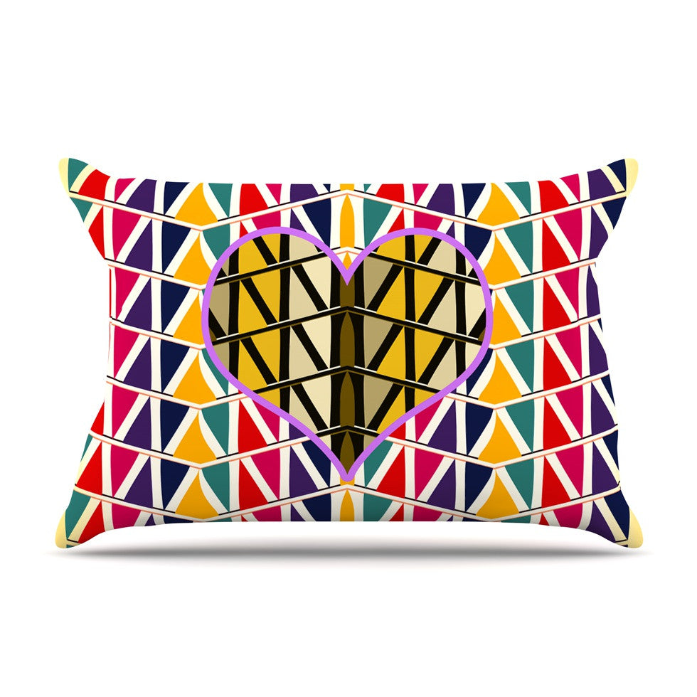 "Famenxt ""Heart in Abstract Pattern"" Geometric Abstract Pillow Sham - KESS InHouse"
