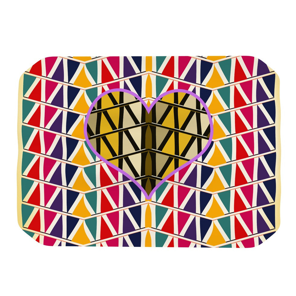 "Famenxt ""Heart in Abstract Pattern"" Geometric Abstract Place Mat - KESS InHouse"