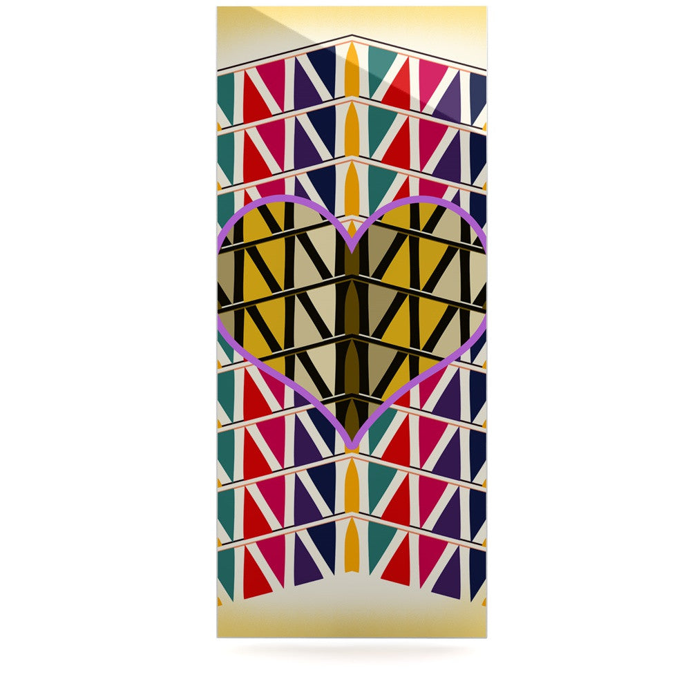 "Famenxt ""Heart in Abstract Pattern"" Geometric Abstract Luxe Rectangle Panel - KESS InHouse  - 1"