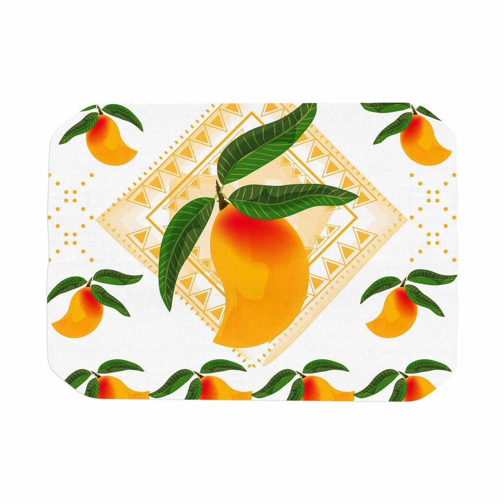 "Famenxt ""Fresh Farm Mangoes"" Orange Peach Place Mat - KESS InHouse"