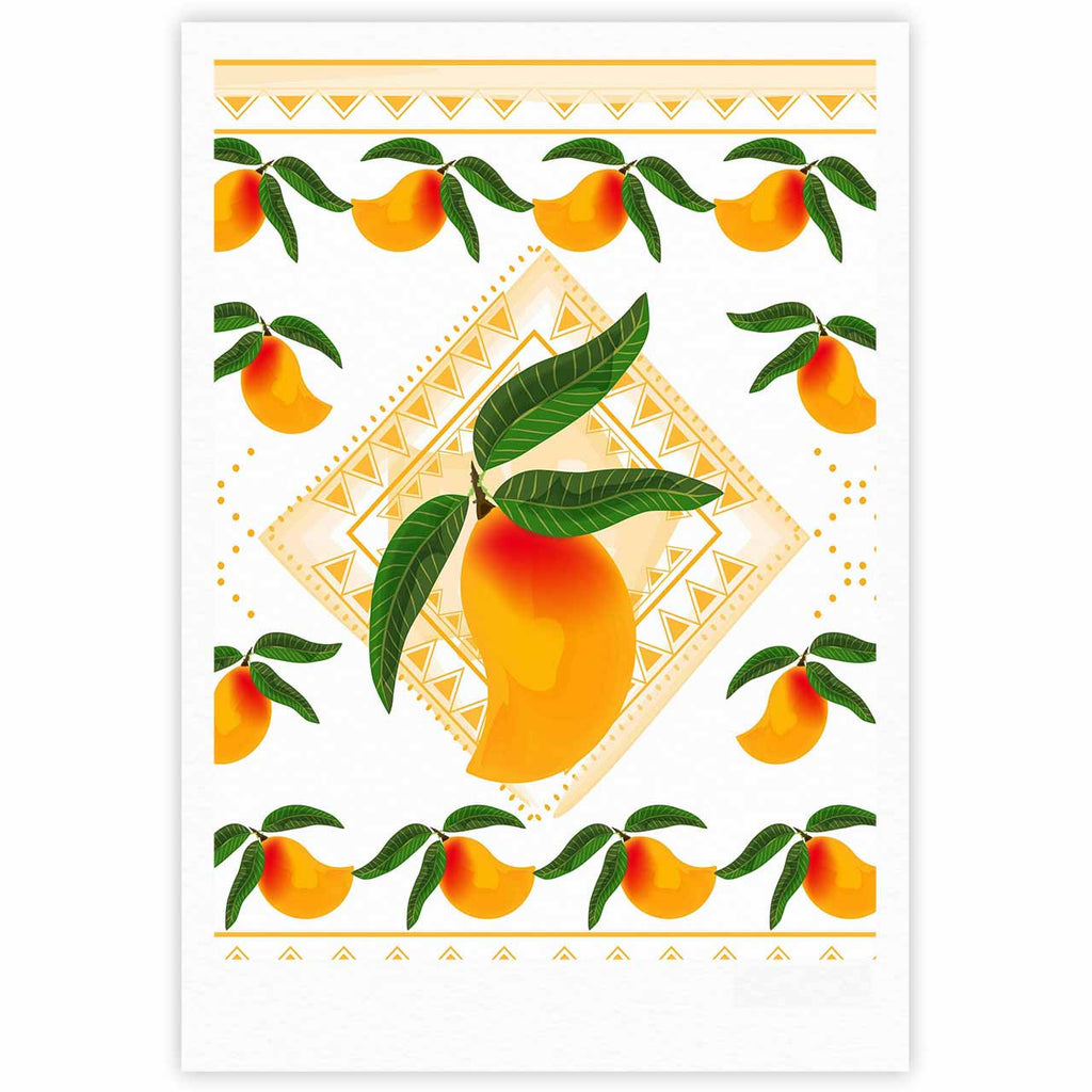 "Famenxt ""Fresh Farm Mangoes"" Orange Peach Fine Art Gallery Print - KESS InHouse"