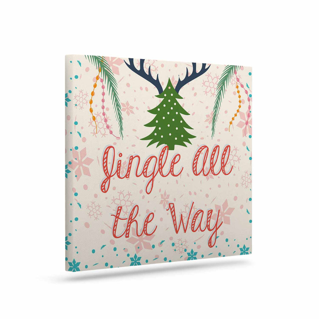 "Famenxt ""Jingle All The Way"" Holiday Digital Canvas Art - KESS InHouse  - 1"
