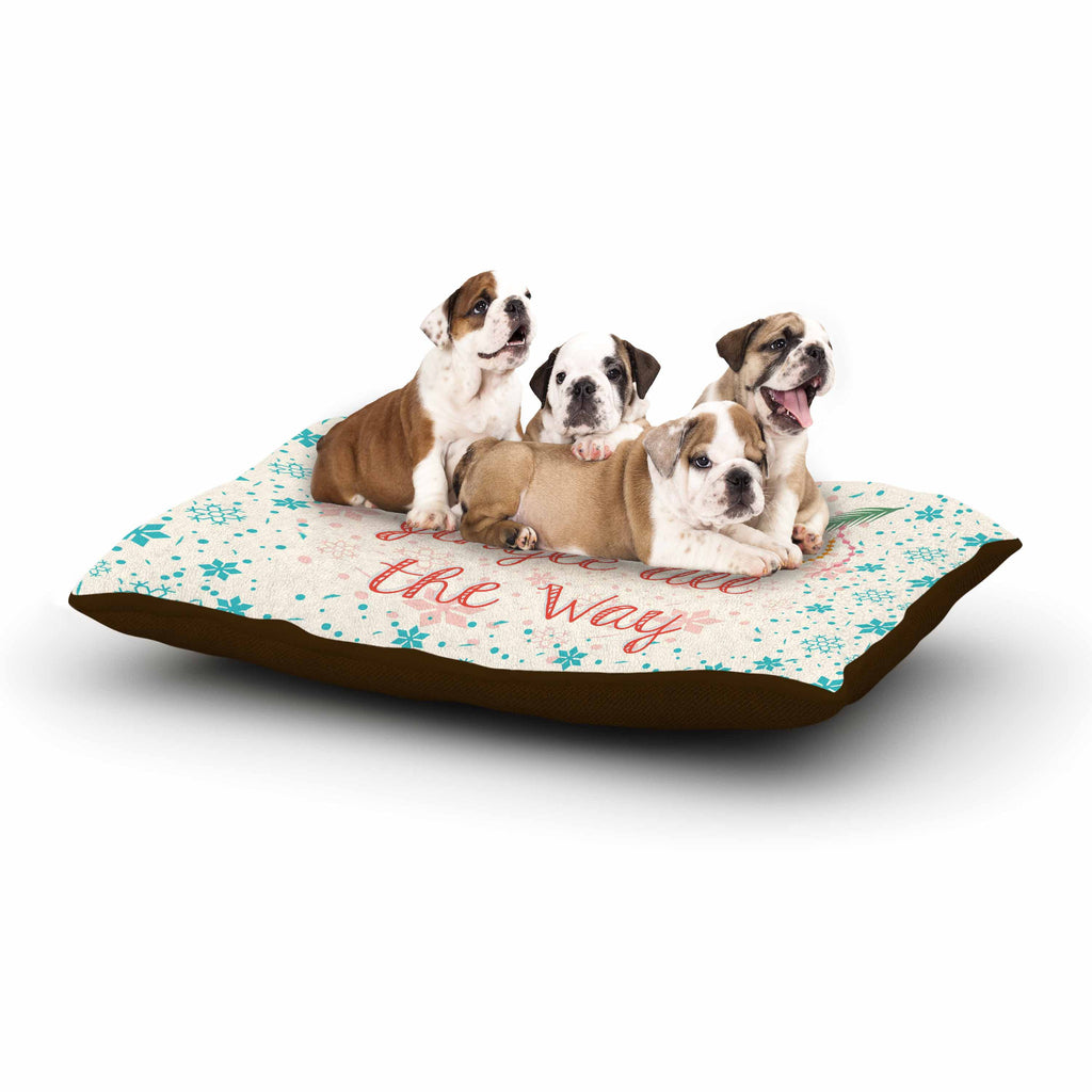 "Famenxt ""Jingle All The Way"" Holiday Digital Dog Bed - KESS InHouse  - 1"