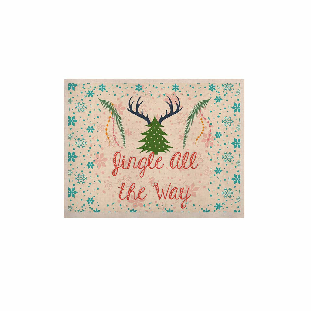 "Famenxt ""Jingle All The Way"" Holiday Digital KESS Naturals Canvas (Frame not Included) - KESS InHouse  - 1"