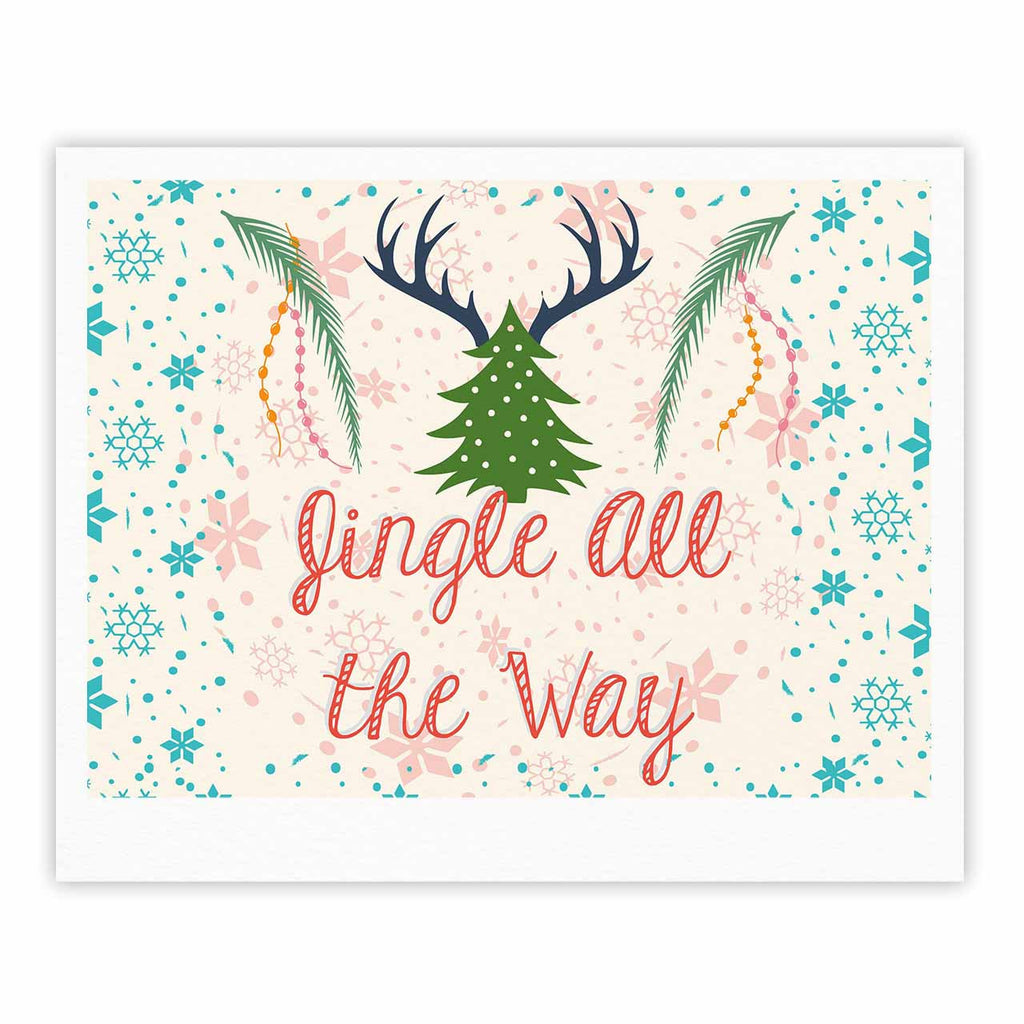 "Famenxt ""Jingle All The Way"" Holiday Digital Fine Art Gallery Print - KESS InHouse"