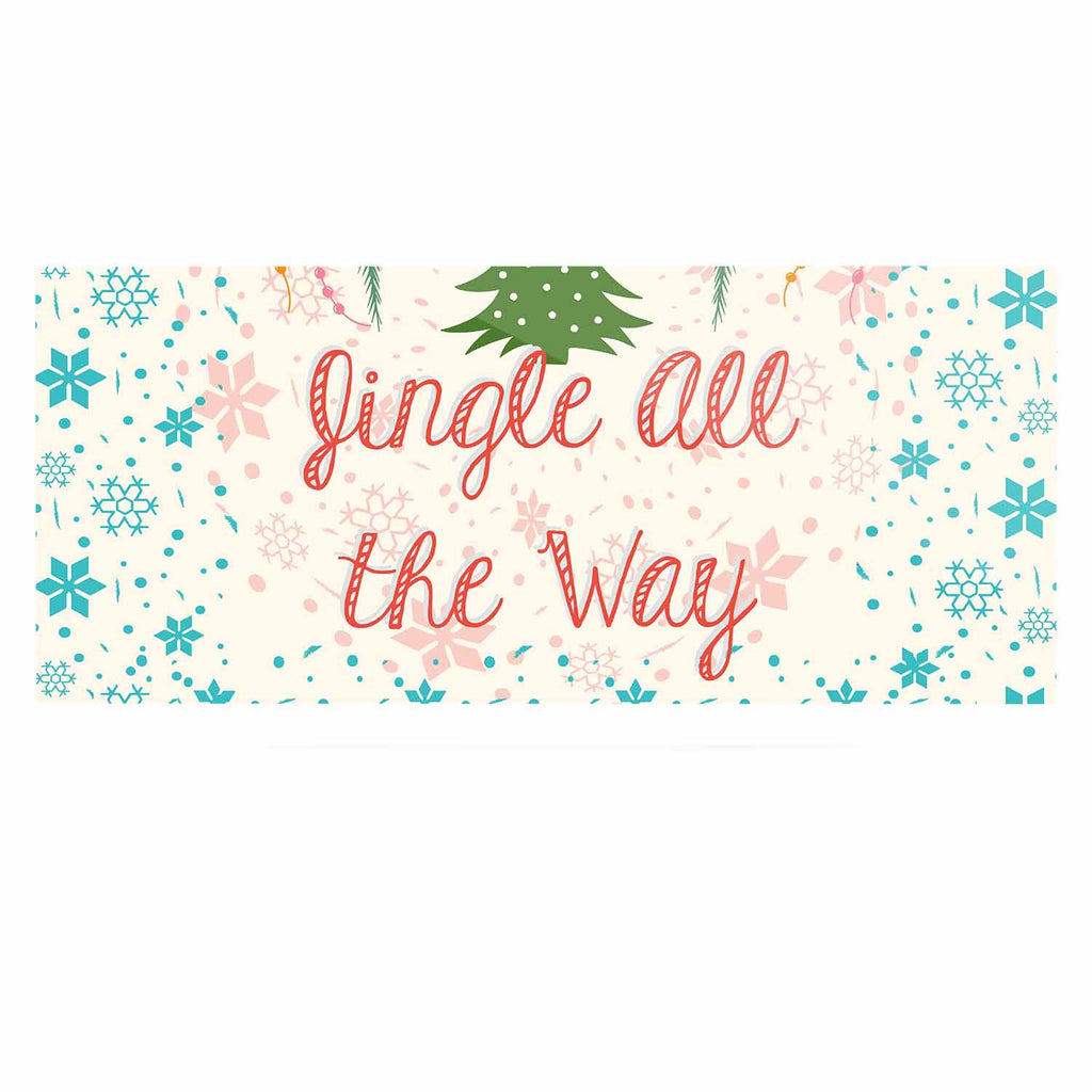 "Famenxt ""Jingle All The Way"" Holiday Digital Luxe Rectangle Panel - KESS InHouse  - 1"