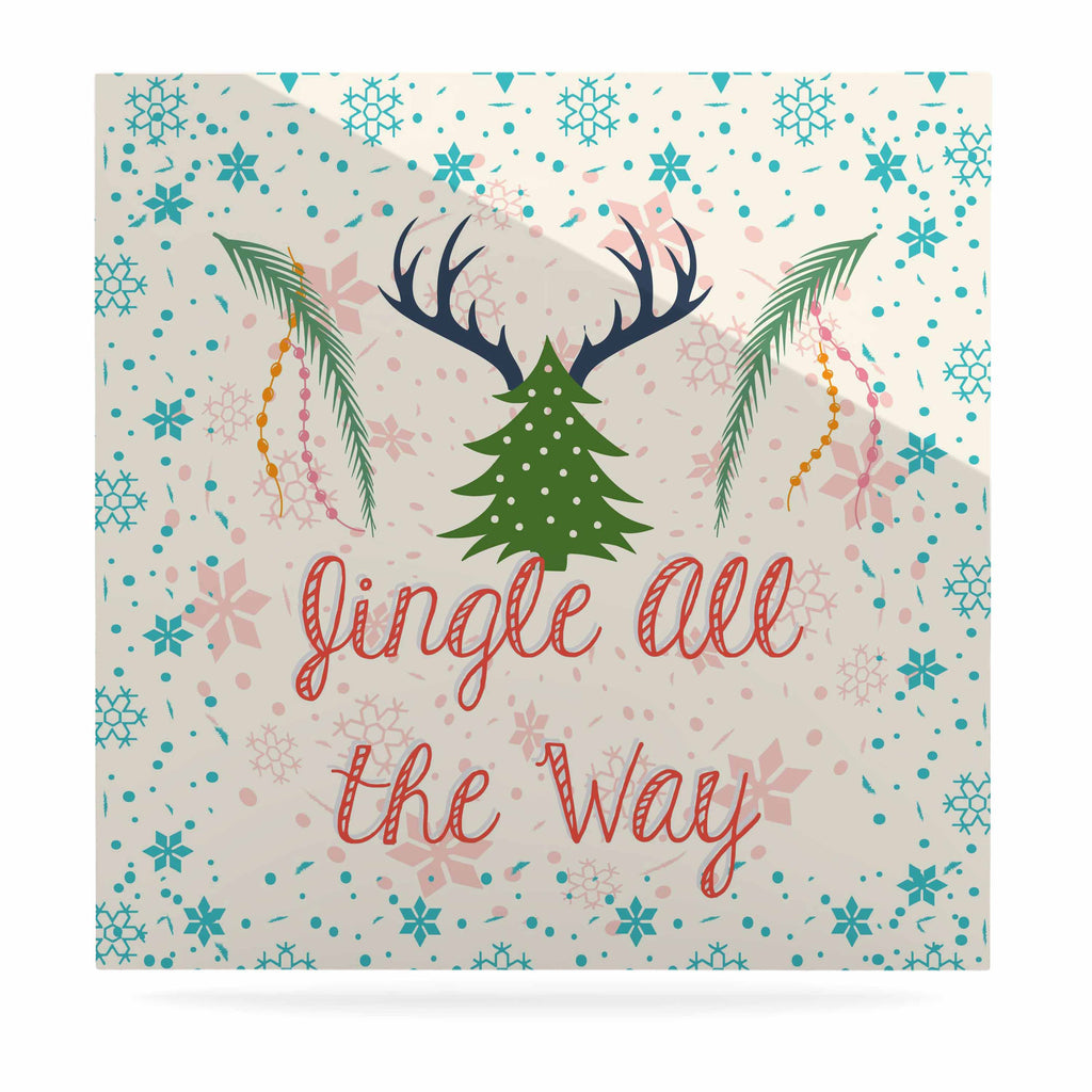 "Famenxt ""Jingle All The Way"" Holiday Digital Luxe Square Panel - KESS InHouse  - 1"