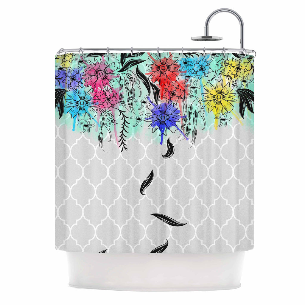 Watercolor Spring By Famenxt Shower Curtain