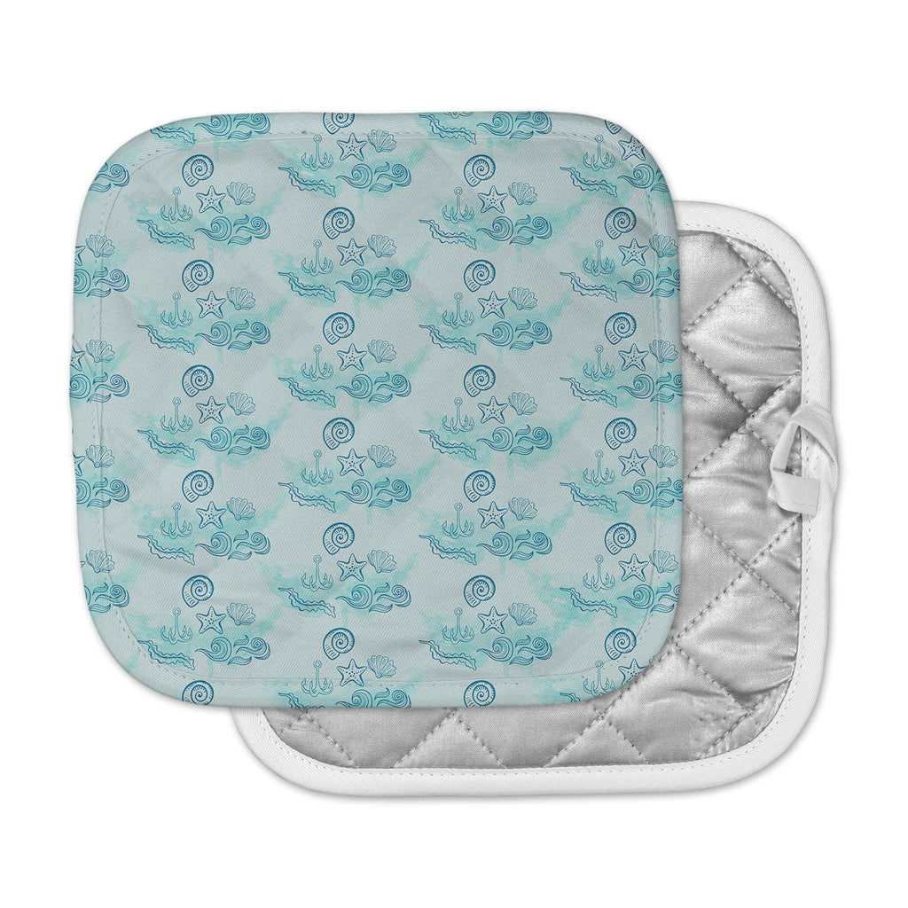 "Famenxt ""Blue Ocean"" Aqua Pastel Pot Holder"