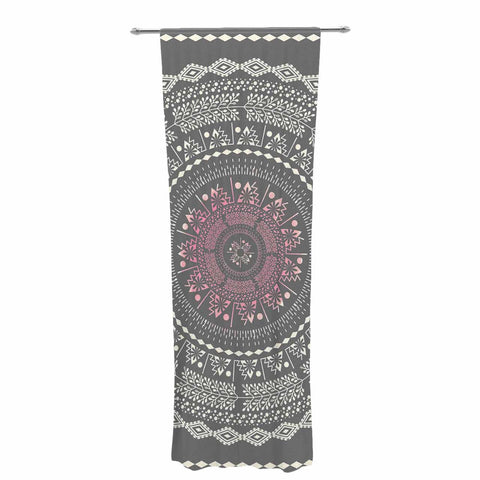 "Famenxt ""Culture Cut Boho Mandala"" Pink Ilustration Decorative Sheer Curtain - KESS InHouse  - 1"