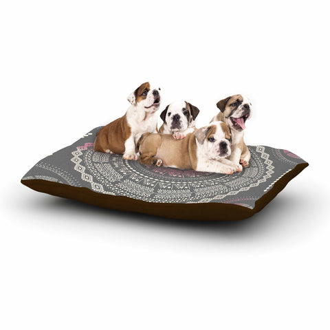 "Famenxt ""Culture Cut Boho Mandala"" Pink Ilustration Dog Bed - KESS InHouse  - 1"