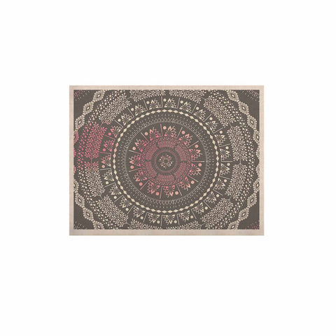 "Famenxt ""Culture Cut Boho Mandala"" Pink Ilustration KESS Naturals Canvas (Frame not Included) - KESS InHouse  - 1"