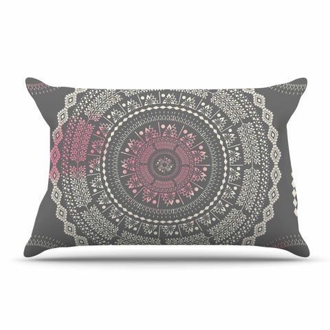 "Famenxt ""Culture Cut Boho Mandala"" Pink Ilustration Pillow Sham"