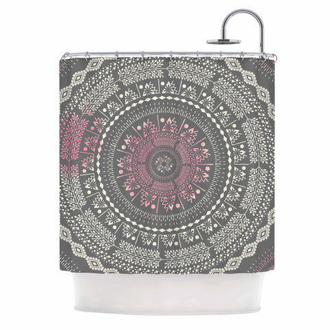 "Famenxt ""Culture Cut Boho Mandala"" Pink Ilustration Shower Curtain - KESS InHouse"